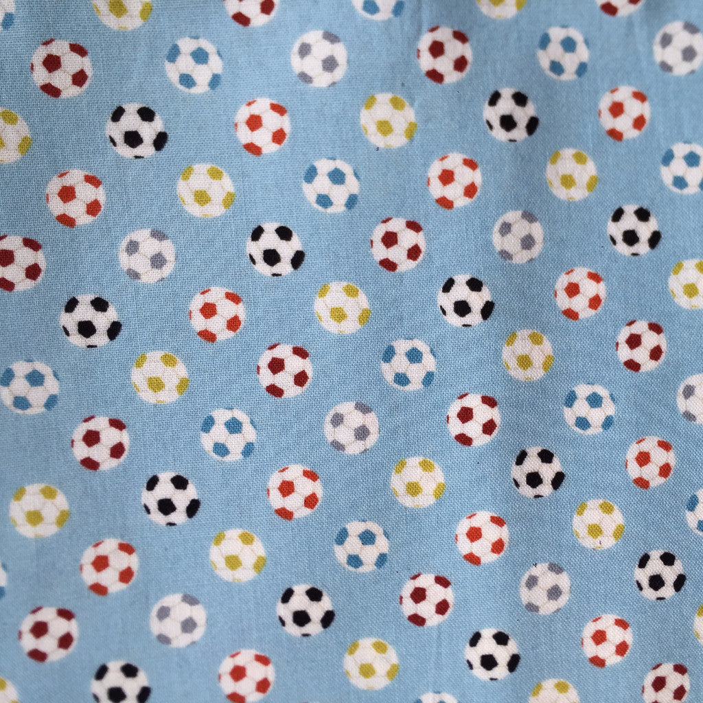 Funky Footballs fabric