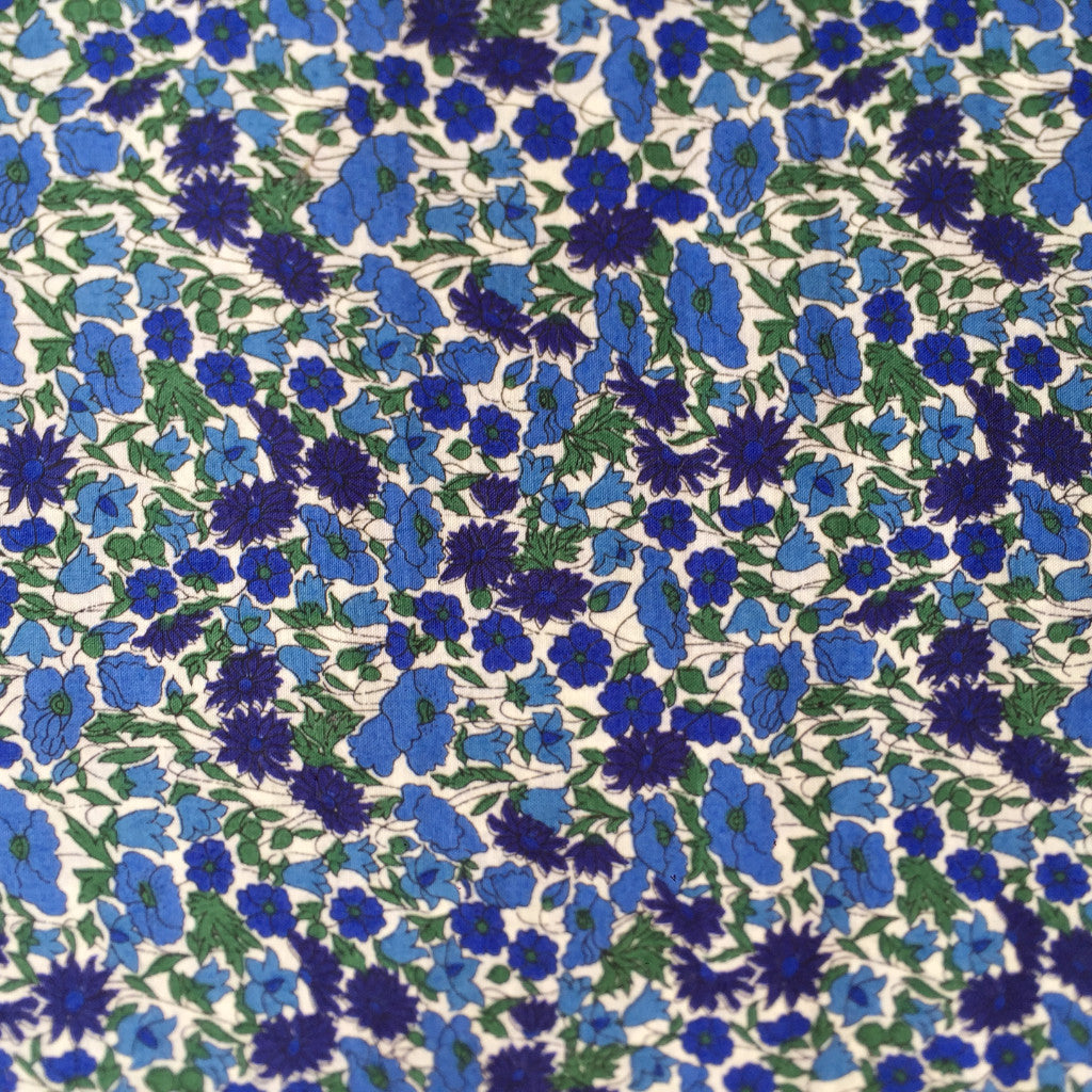 Cornflower Capers fabric