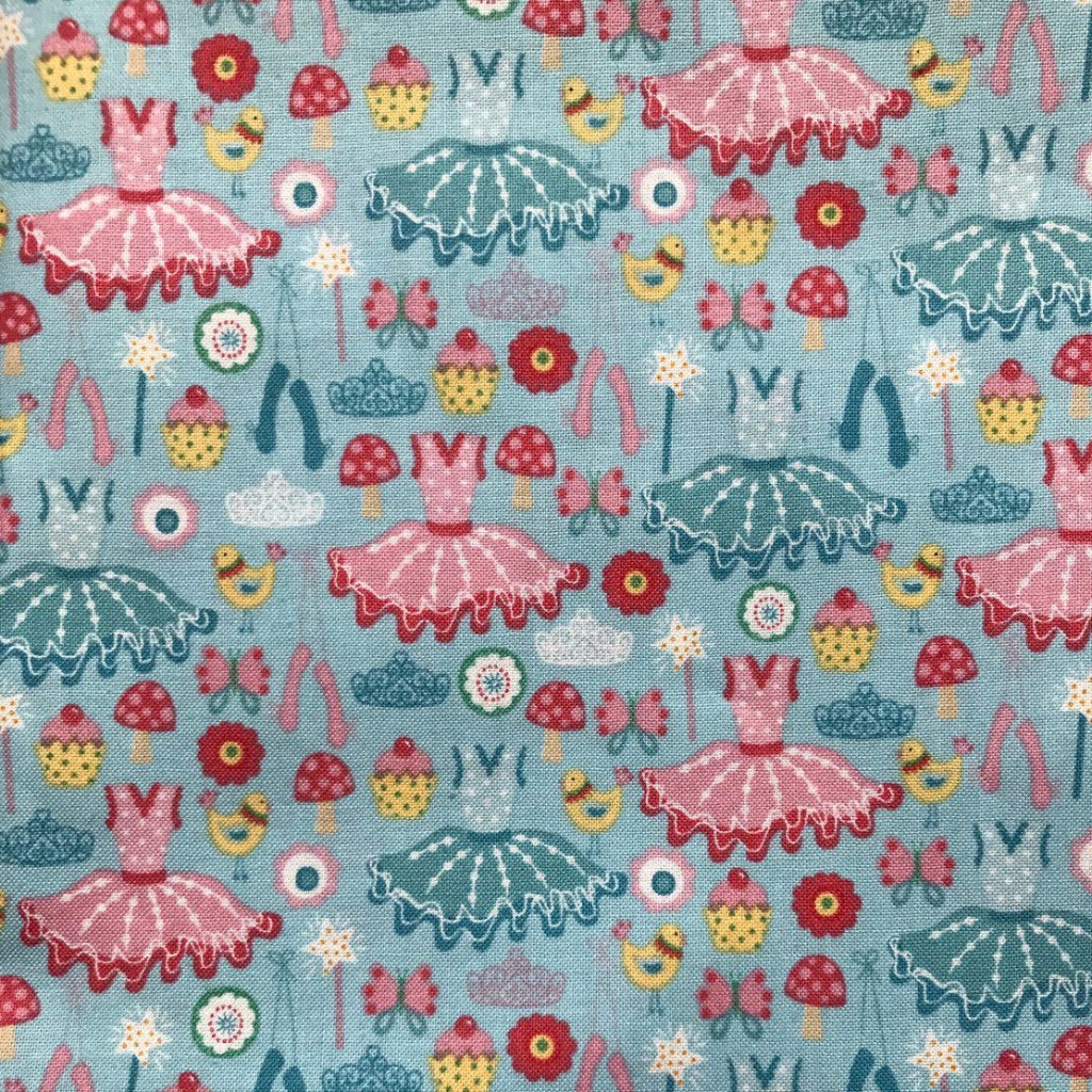 Tutus and ballet shoes fabric