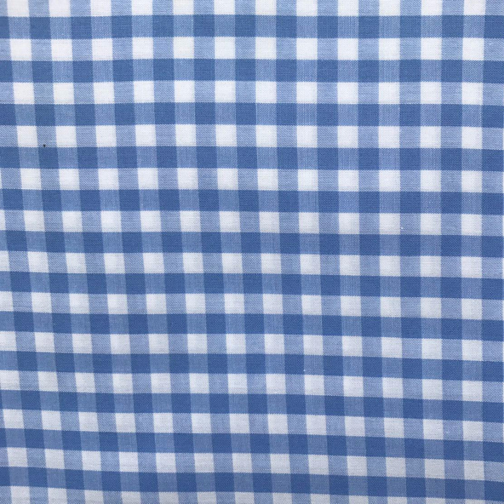Gorgeous Gingham Blue fabric