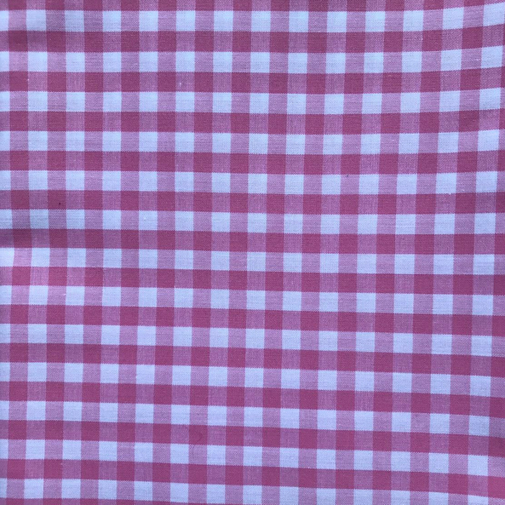 Gorgeous Gingham Pink fabric