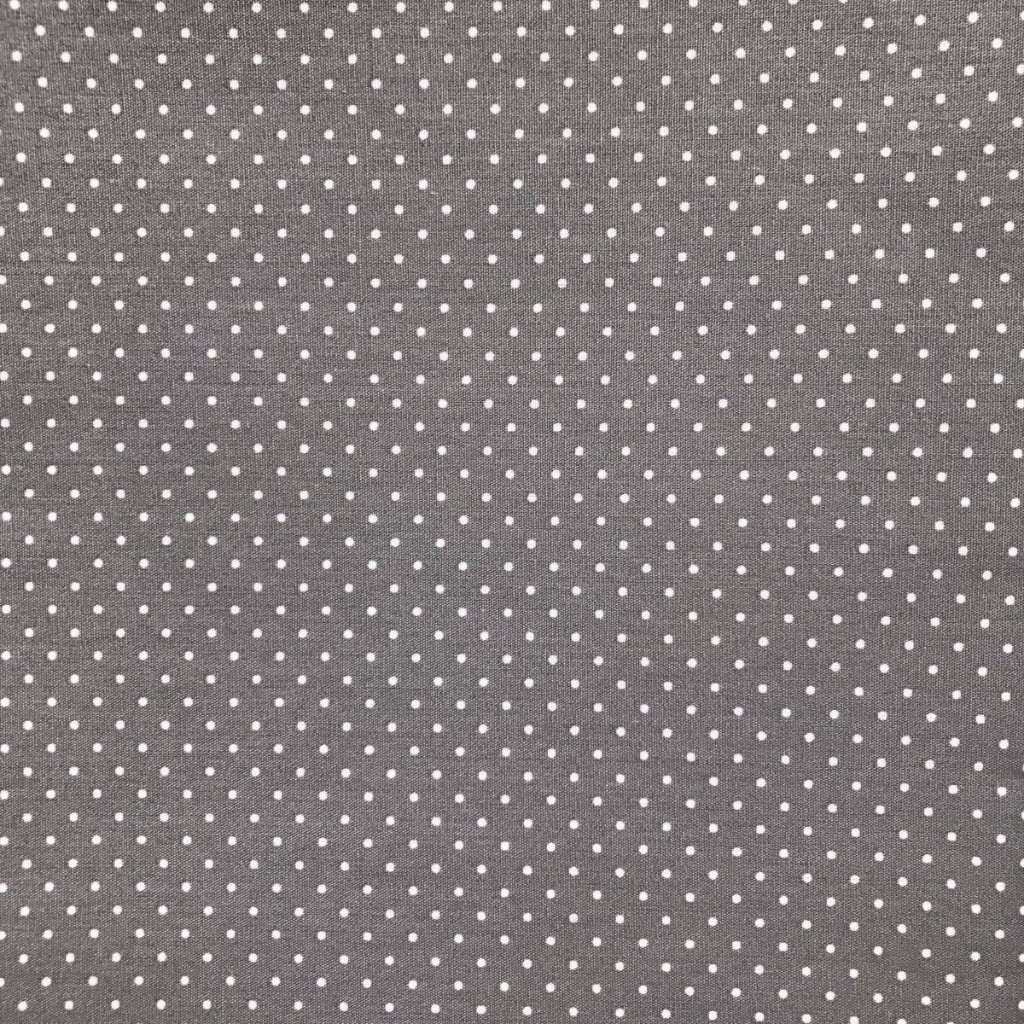 White dots on Grey fabric