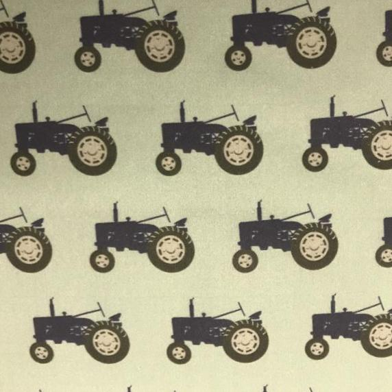Trundling Tractors fabric