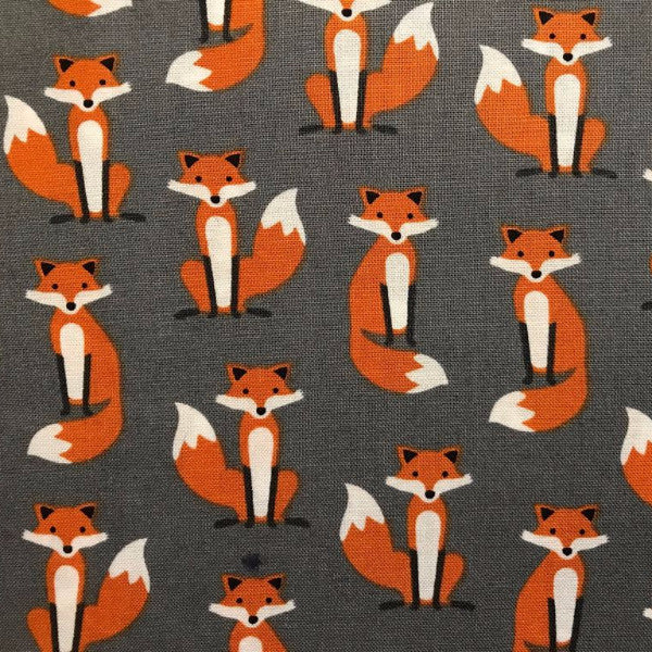 Foxy Gentleman fabric (grey)