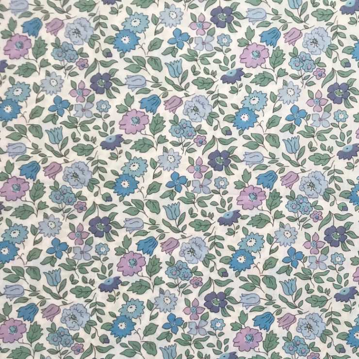 Bluebells and violets fabric