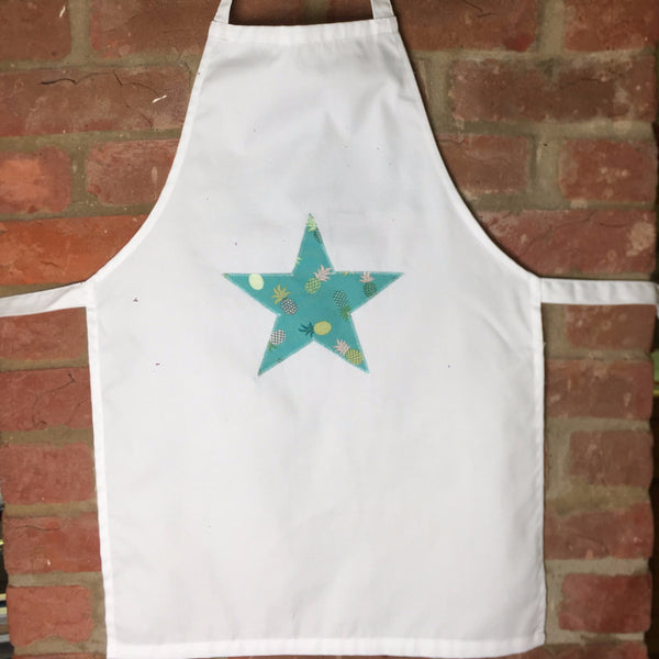 Apron with Star motif in Pineapple Punch