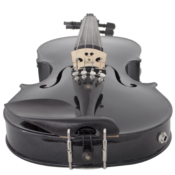 Cecilio 4-4 CVNAE-Black - SR Ebony Fitted Acoustic-Electric Violin