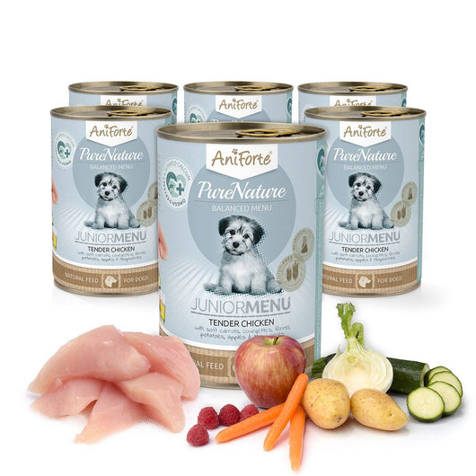 AniForte® Pure Nature Junior TENDER CHICKEN Menu  6x400g