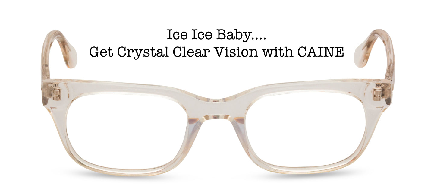 Crystal rectangular 50s style glasses Caine
