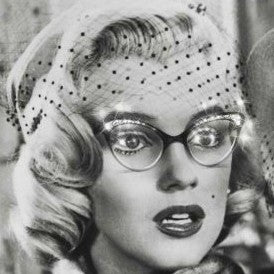 Marilyn Monroe cateye sparkly glasses