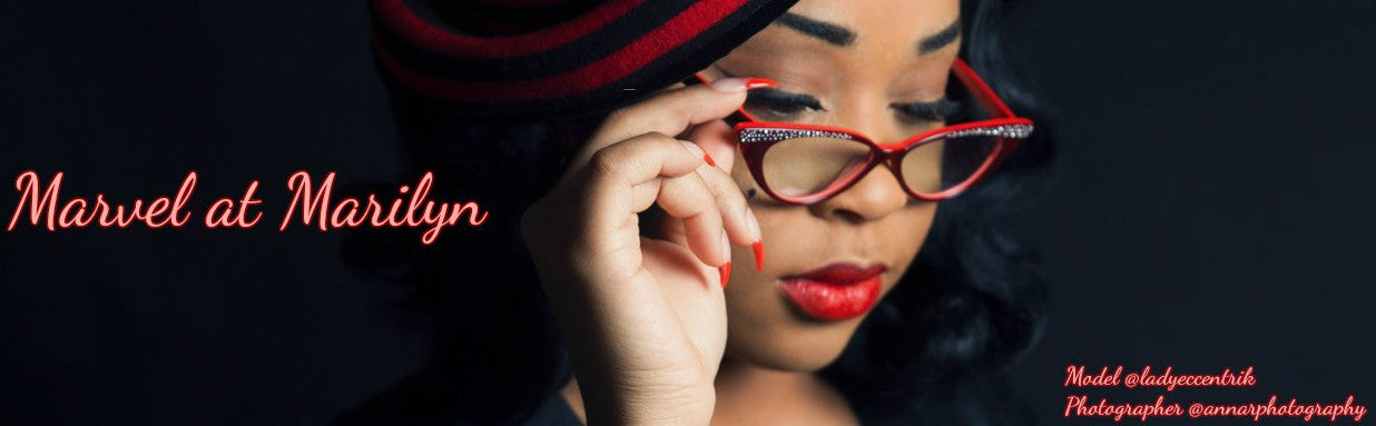 retro 50s red cateye glasses