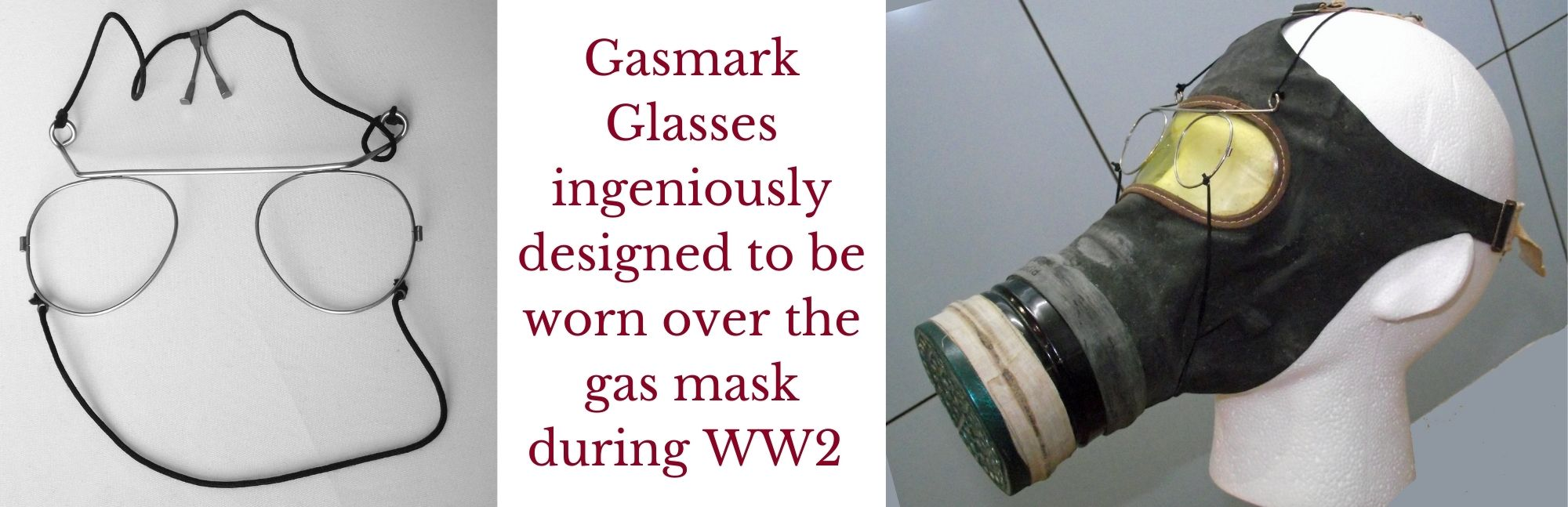 gas mask glasses worn over mask