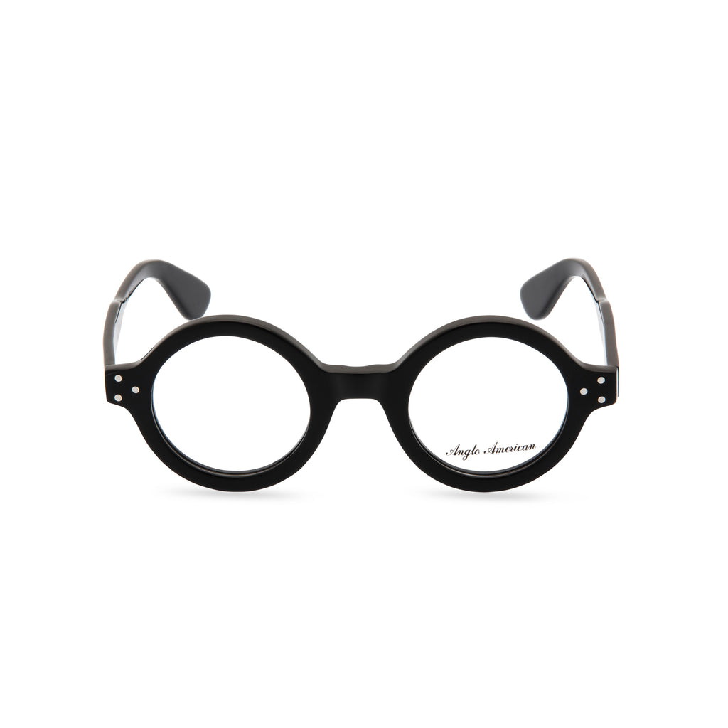 Anglo American Optical '180E' - Round Glasses, Black