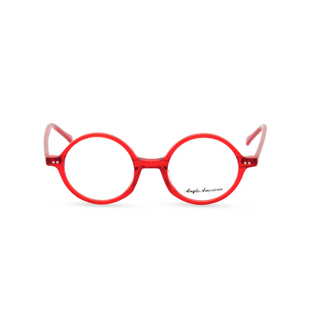 Anglo American Optical '400' - Round Glasses, Red