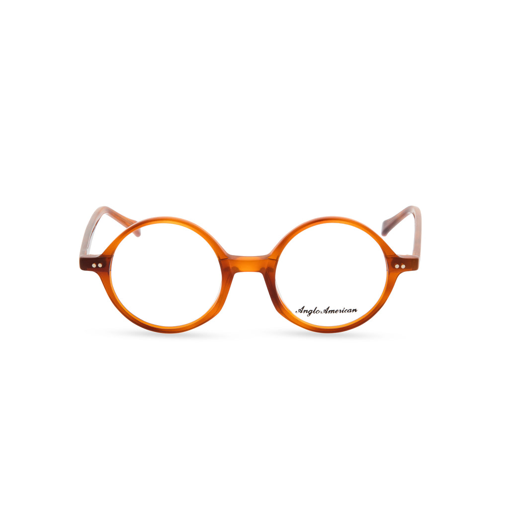 Anglo American Optical '400' - Round Glasses, Amber
