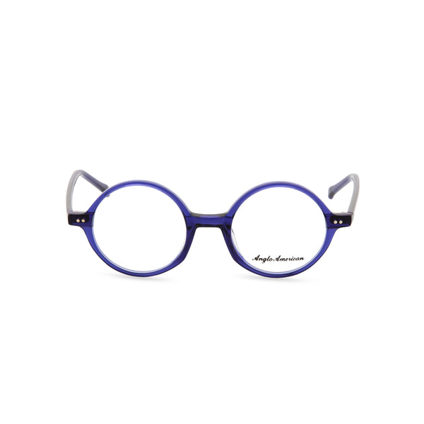 Anglo American Optical '400' - Round Glasses, Blue
