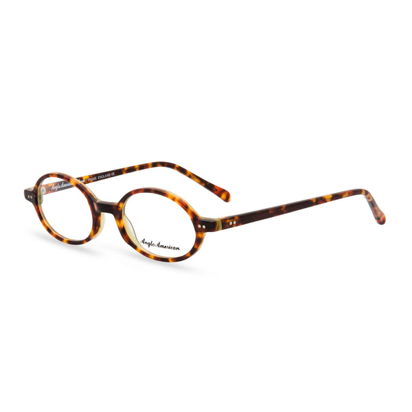 Anglo American Optical '401' - Oval Glasses, Dark Tortoishell