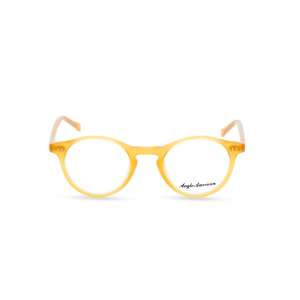 Anglo American Optical '406' - Panto Glasses, Yellow