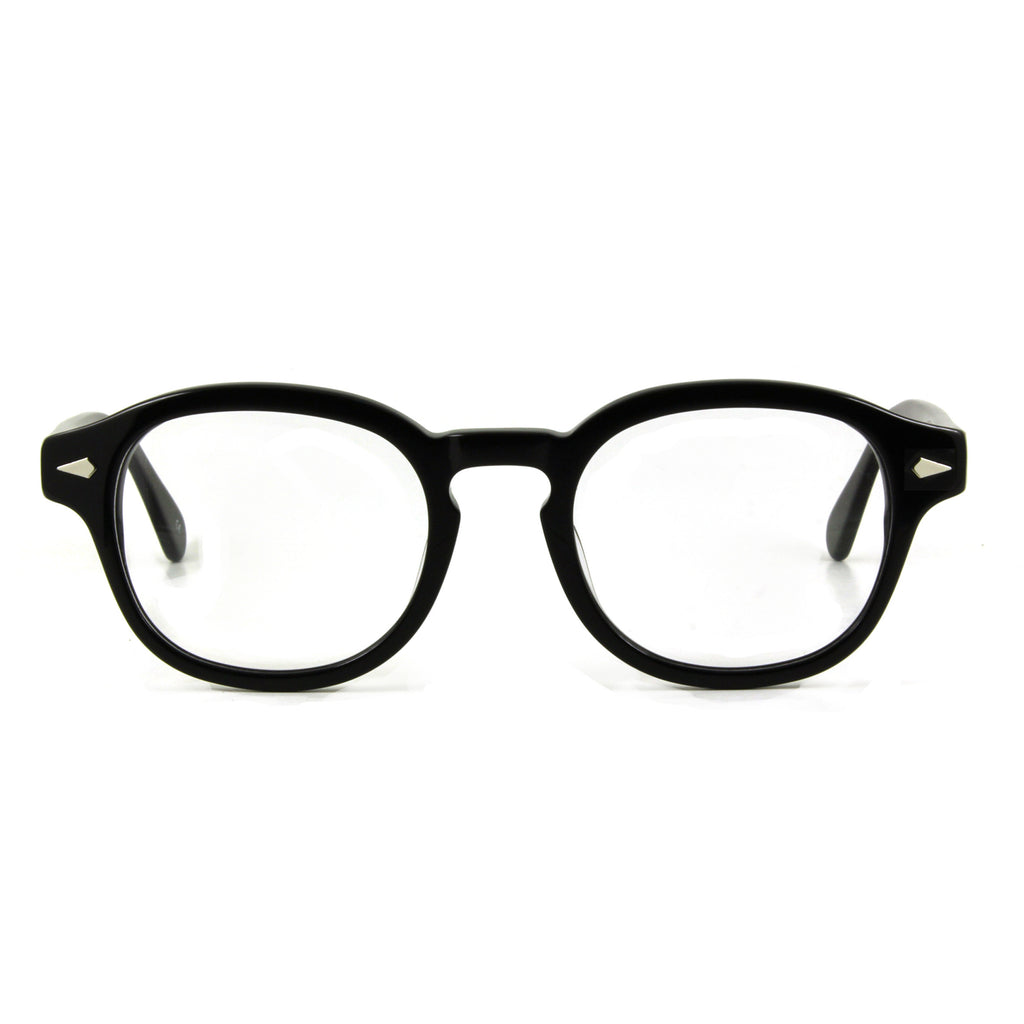 mens 50s style glasses in black