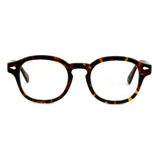 mens 50s style tortoiseshell glasses, front view