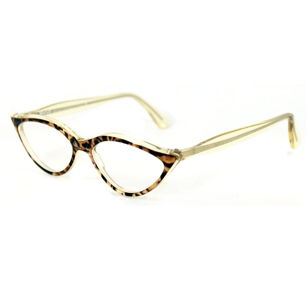 Retropeepers Amelie in Ocelot Crystal, 50's style cat eye glasses, side view