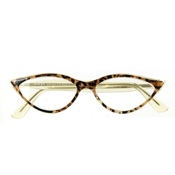 Retropeepers Amelie in Ocelot Crystal, 50's style cat eye glasses, folded