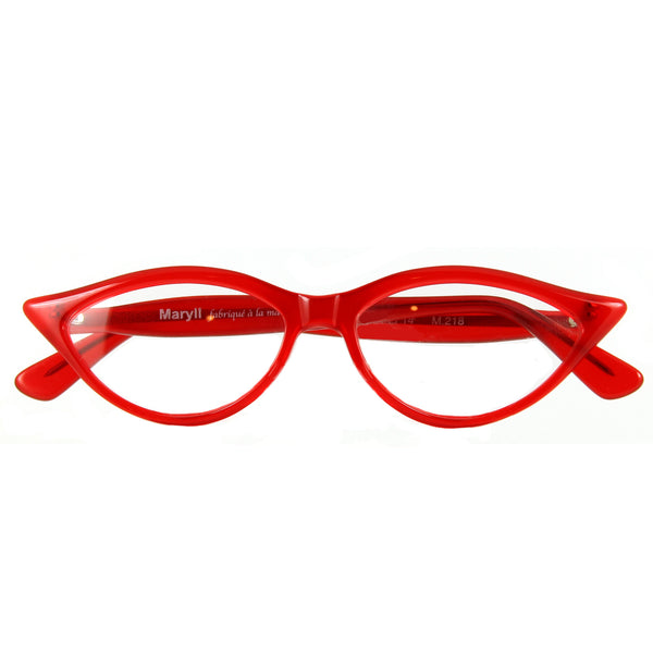 Retropeepers Amelie in Red, 50's style cat eye glasses, folded
