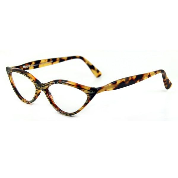 Retropeepers Amelie - Tiger Tortoiseshell, 50's style cat eye glasses, side view