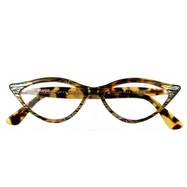 Retropeepers Amelie - Tiger Tortoiseshell, 50's style cat eye glasses, folded