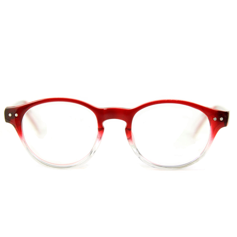 Miller Round Glasses - Red Crystal