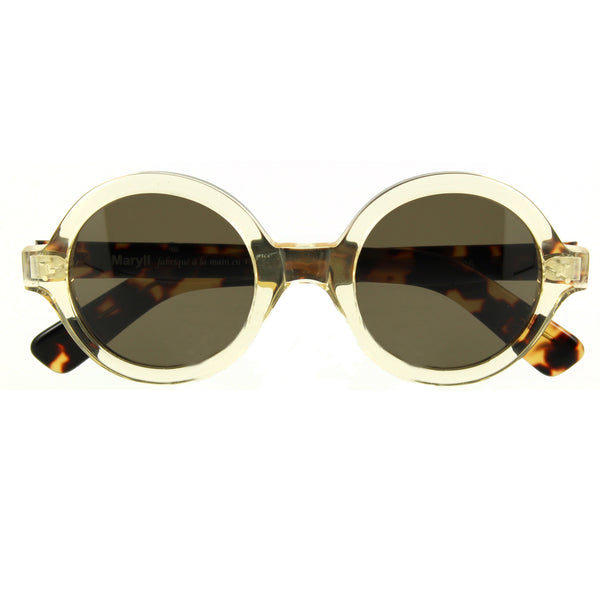 Andy Sunglasses Crystal Tortoiseshell crossed