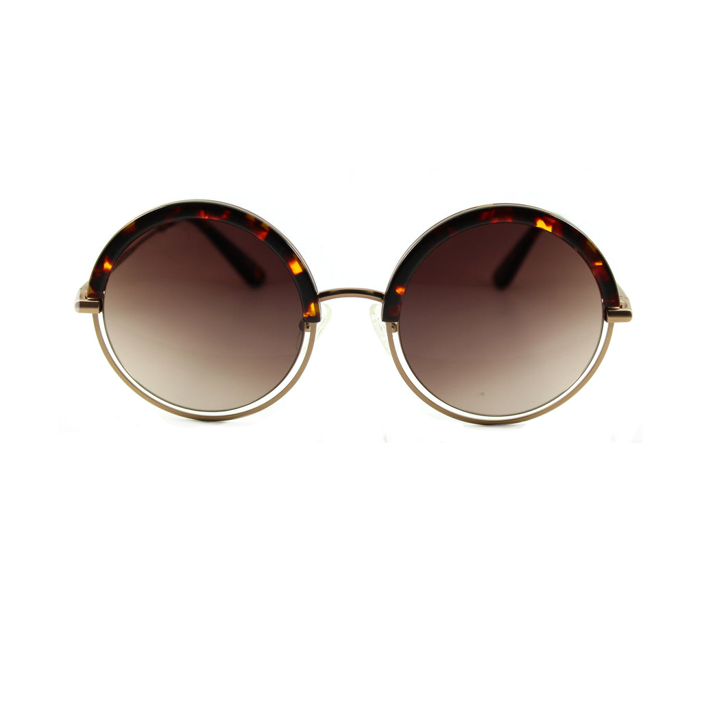 Andress Round Sunglasses - Cream Tortoiseshell / Purple Haze Lens
