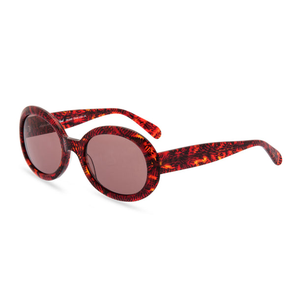 Anglo American Optical Aurora - Oval Sunglasses, Red Mist