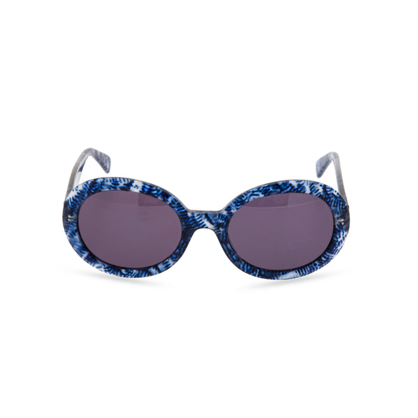 Anglo American Optical 'Aurora' - Oval Sunglasses, Blue Haze