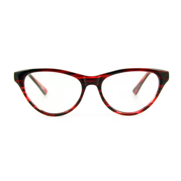 Red cateye glasses