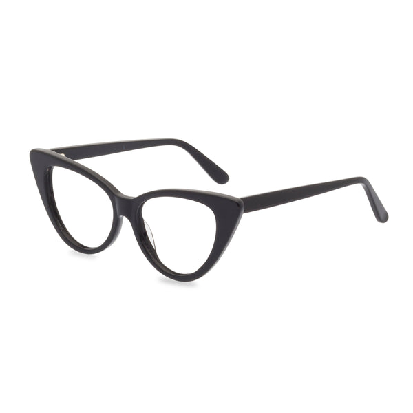 Ava black glasses side