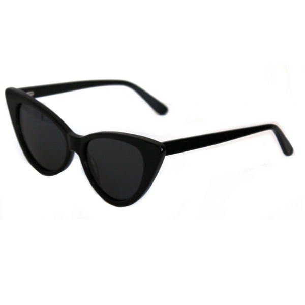 Ava black sunglasses side