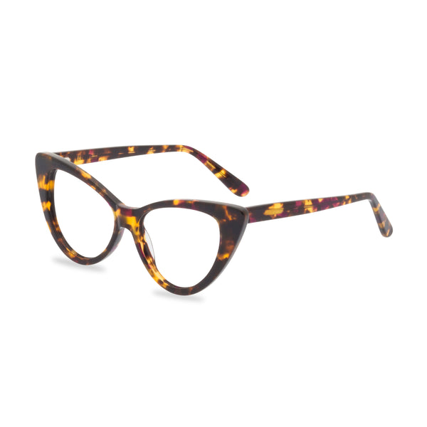 Ava tortoiseshell glasses side