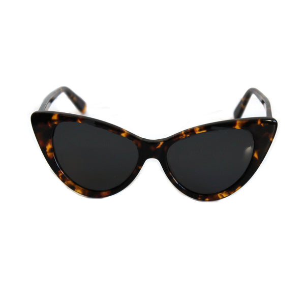 Ava Cat Eye Sunglasses -Tortoiseshell / Wine
