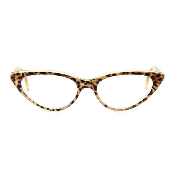 Bardot Cat Eye Glasses - Ocelot Crystal