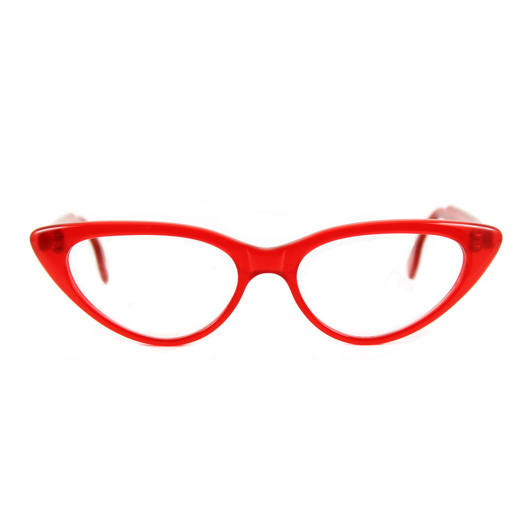 Bardot Cat Eye Glasses - Ready for Red