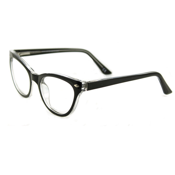 Belle Black Crystal glasses side