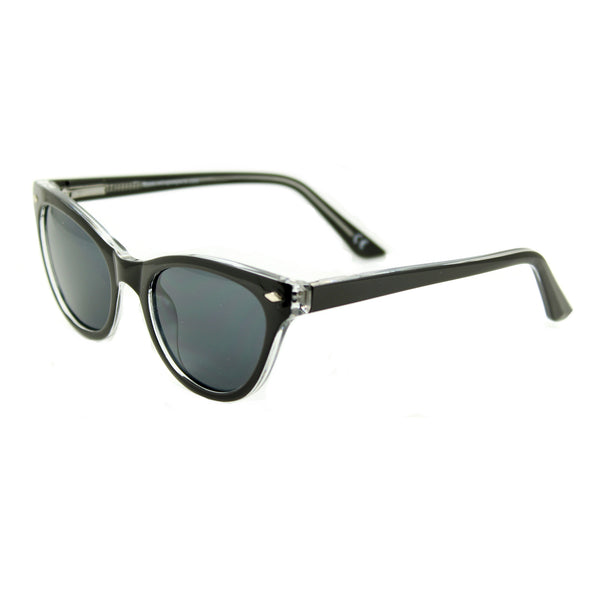 Belle Black Crystal sunglasses side