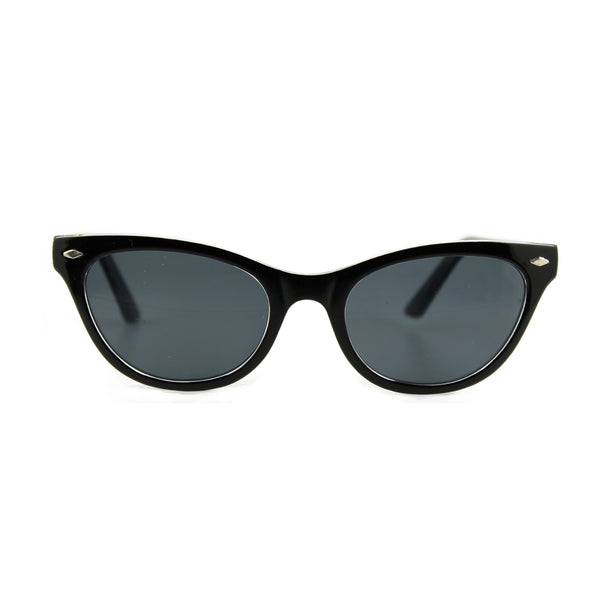 Belle Black Crystal sunglasses front