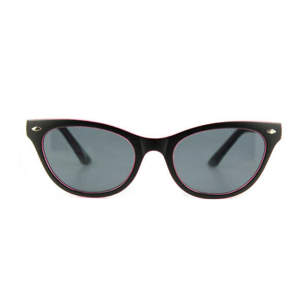 Belle - Sunglasses Black / Pink