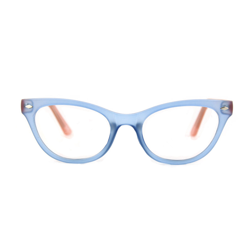 Belle Blue Pink glasses font