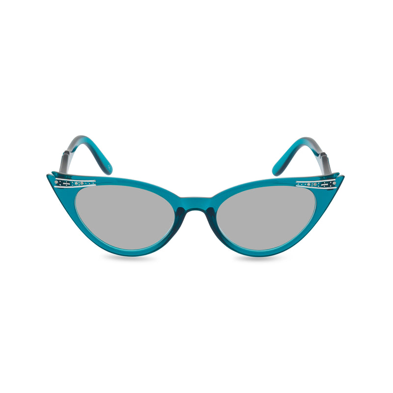 Betty Turquoise grey lens front