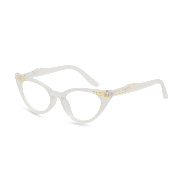 Retropeepers Betty cat eye glasses pearl - side view