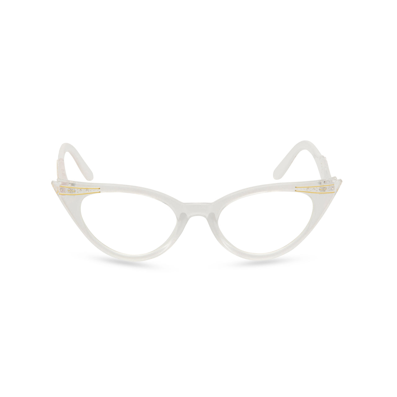 Retropeepers Betty cat eye glasses pearl - front view