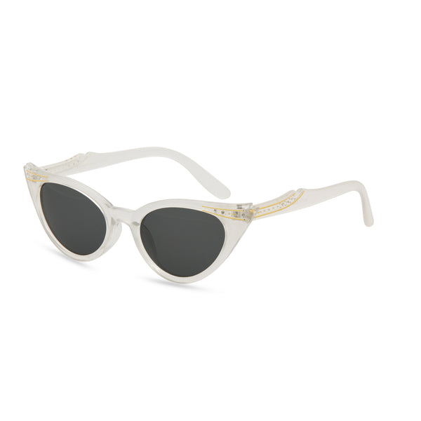 Retropeepers Betty cat eye sunglasses pearl - side view
